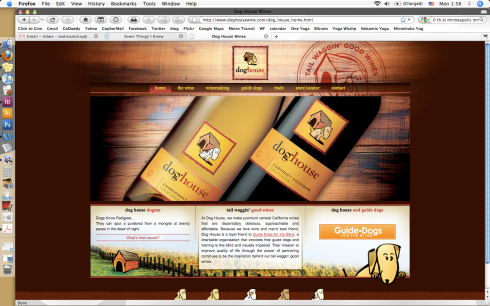 winery website design
