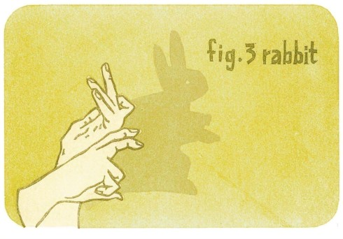 rabbit hand shadow card