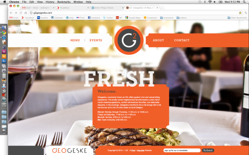 well designed restaurant website